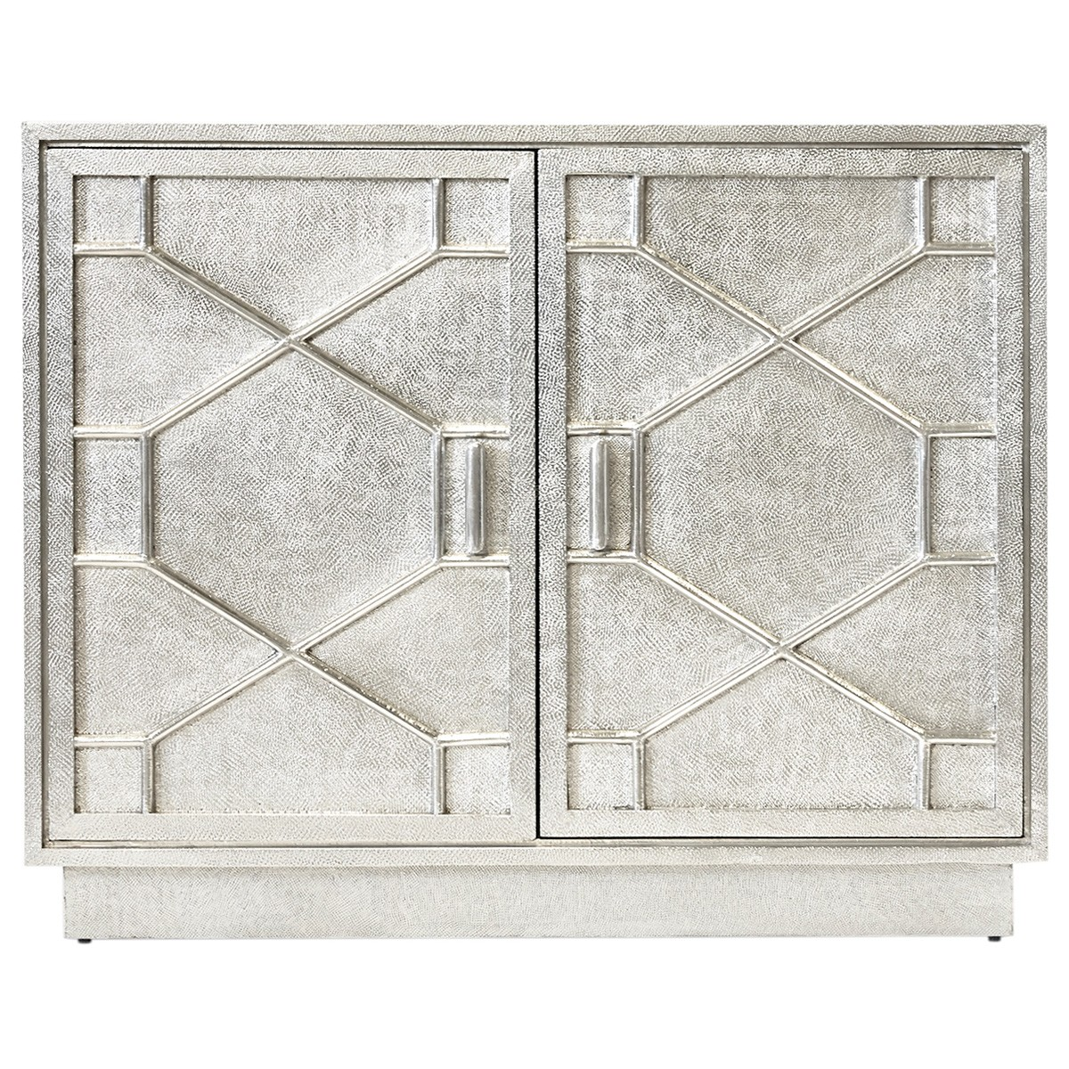 Preston Handcrafted Nickel 2 Door Cabinet