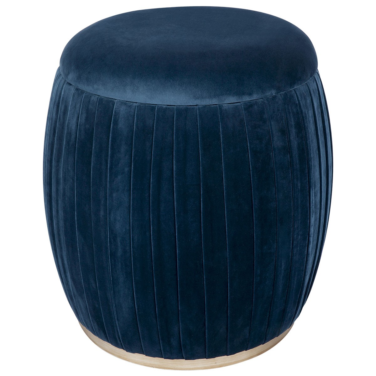 Capsule Velvet Fabric Storage Stool, Navy