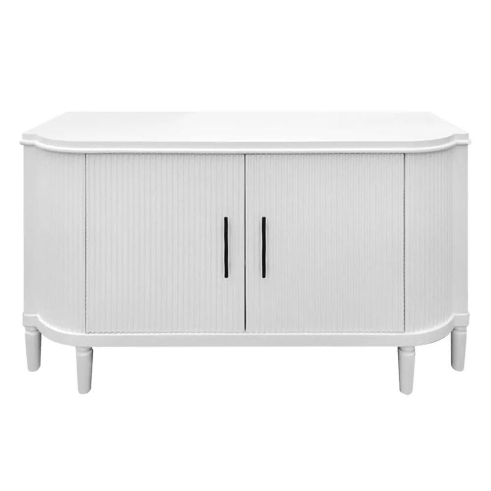 Arielle 2 Door 2 Drawer Buffet Table, 140cm, Satin White