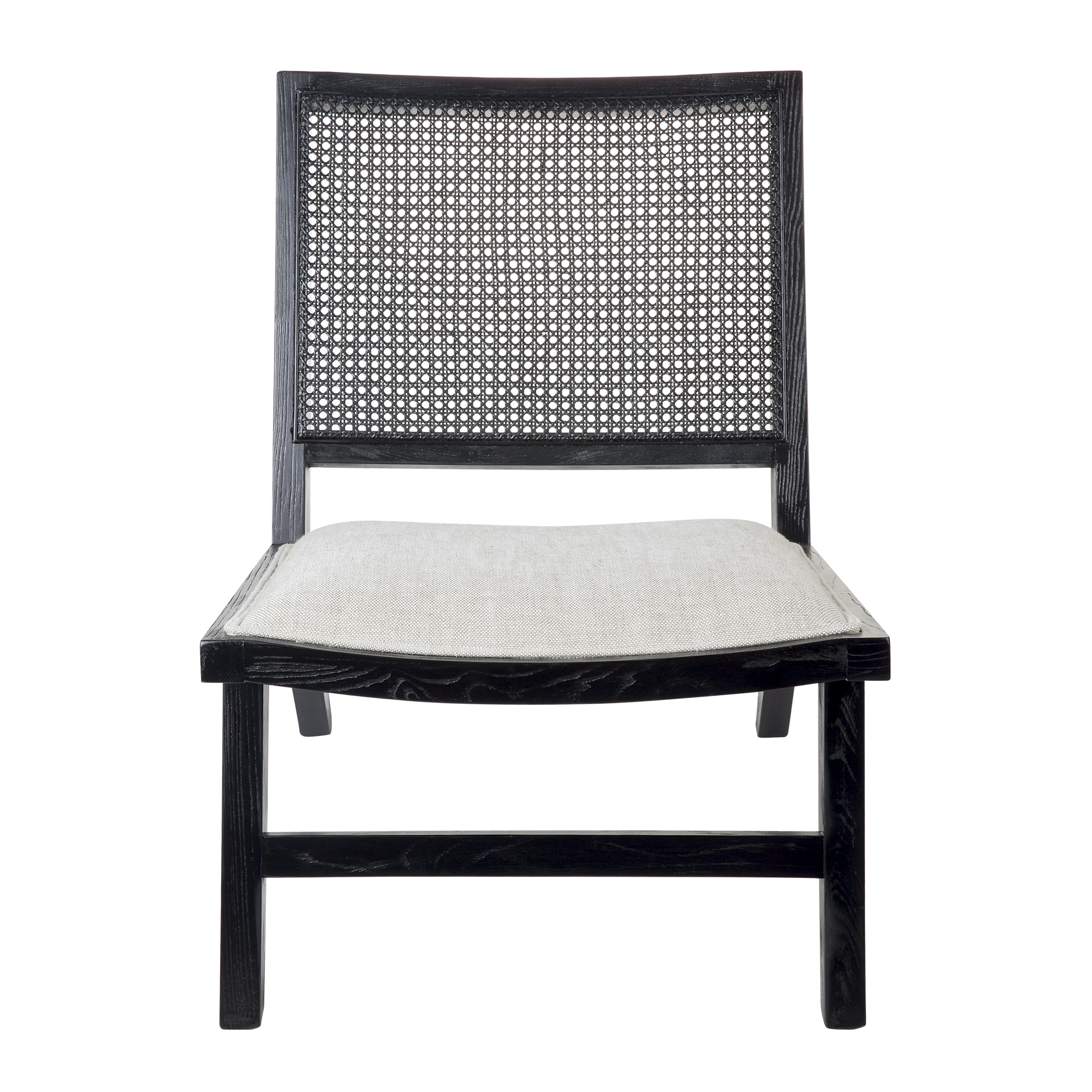 Palmer Oak Timber Occasional Chair, Black