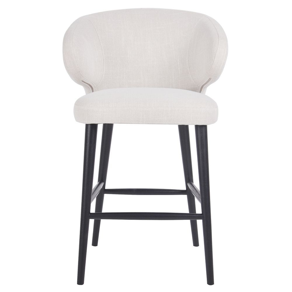 Harlow Fabric Kitchen Stool, Oatmeal