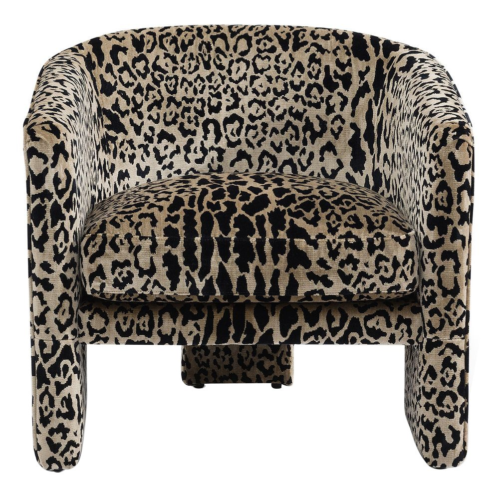 Kylie Fabric Occasional Armchair, Leopard