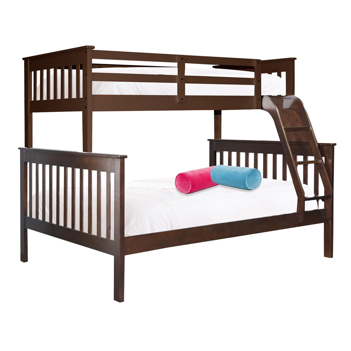 Everest Wooden Bunk Bed, Trio, Cappuccino
