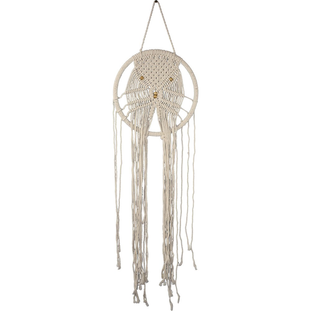 Macrame Knotted Wheel Wall Decor