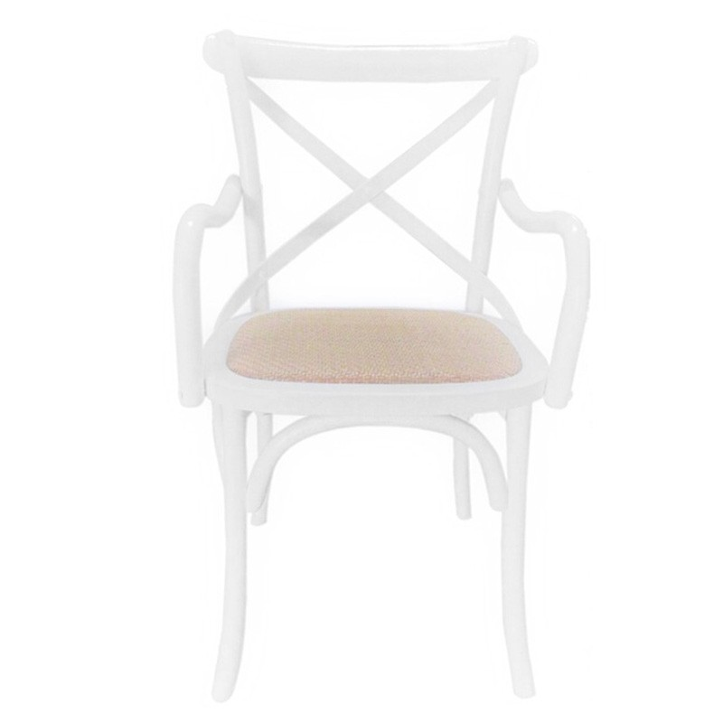 Korari Wooden Cross Back Carver Dining Chair