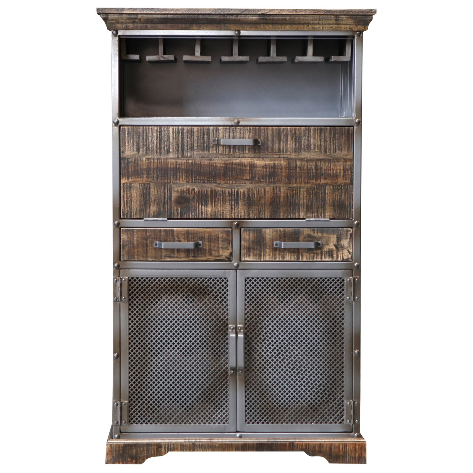Armidale Industrial Timber & Metal Wine Rack
