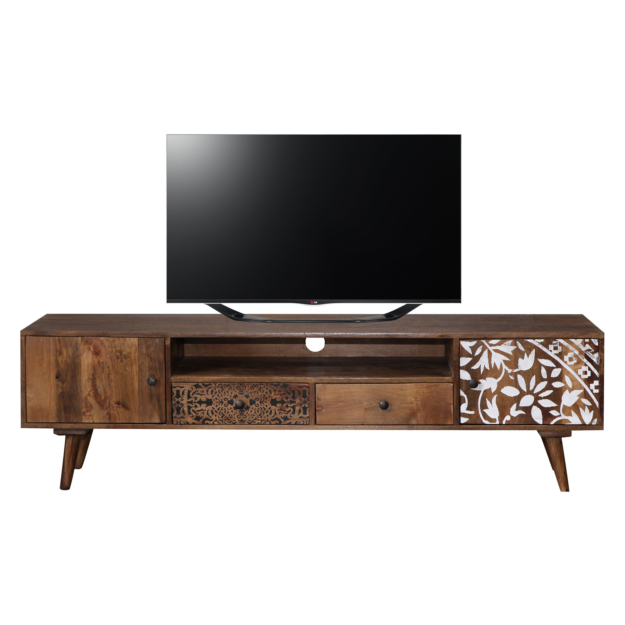 Lismore Timber 2 Door 2 Drawer TV Unit, 180cm