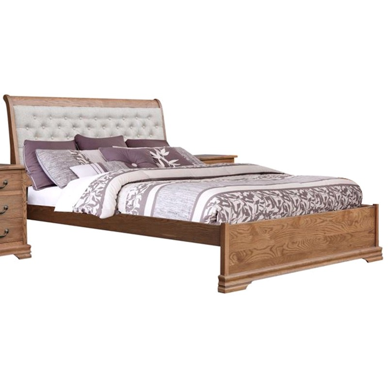Malibu American Oak Timber Bed, King