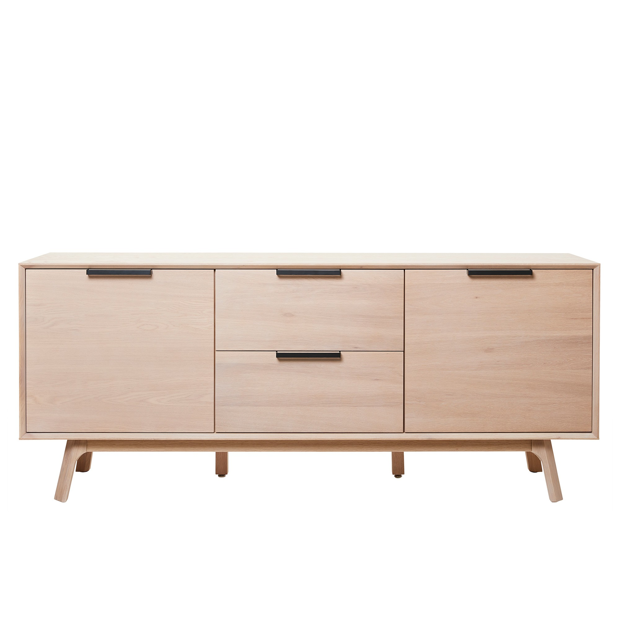 Capri White Oak Timber 2 Door 2 Drawer Sideboard, 180cm
