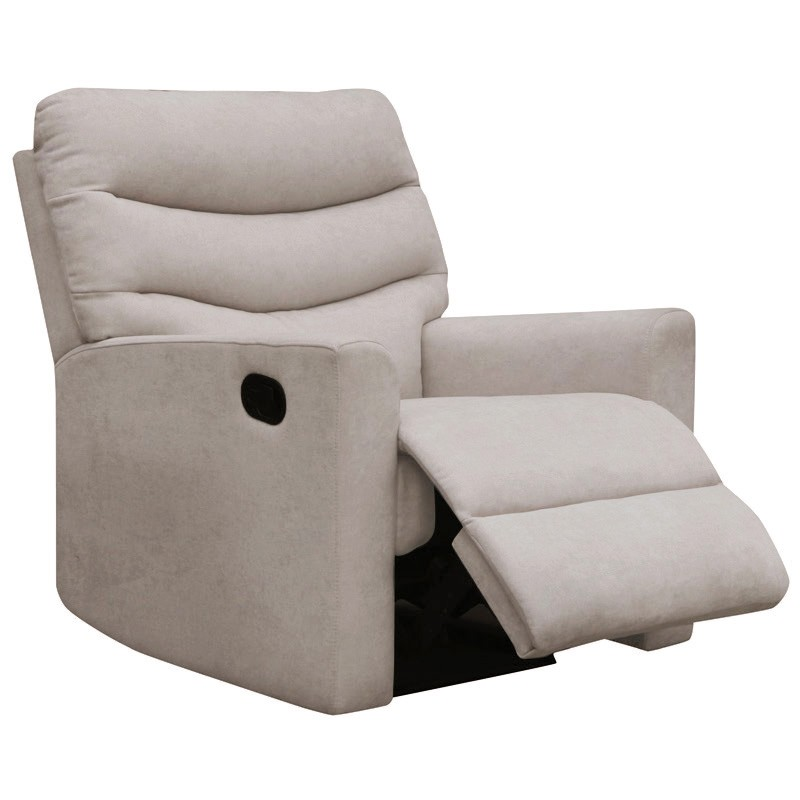Carla Fabric Recliner Armchair, Champagne