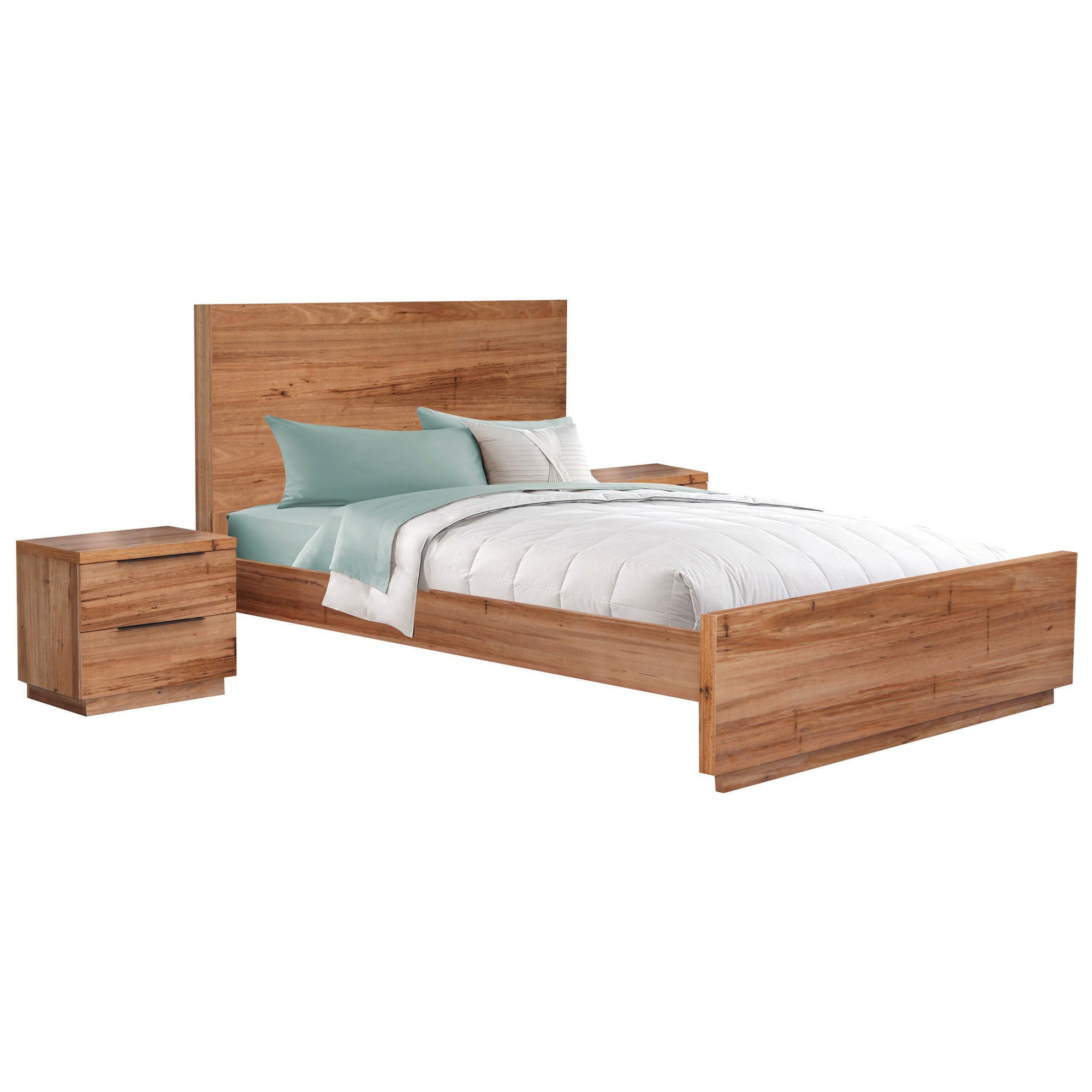 Nelson Wormy Chestnut Timber Bed, Queen
