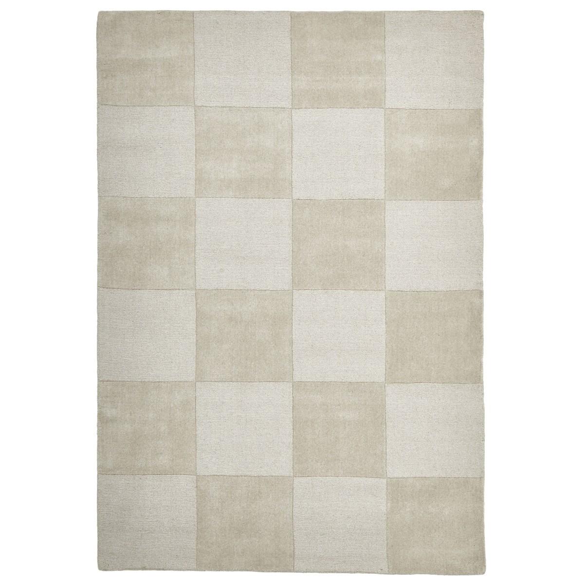 Evangeline Hand Loomed Modern Wool Rug, 165x115cm, Oatmeal