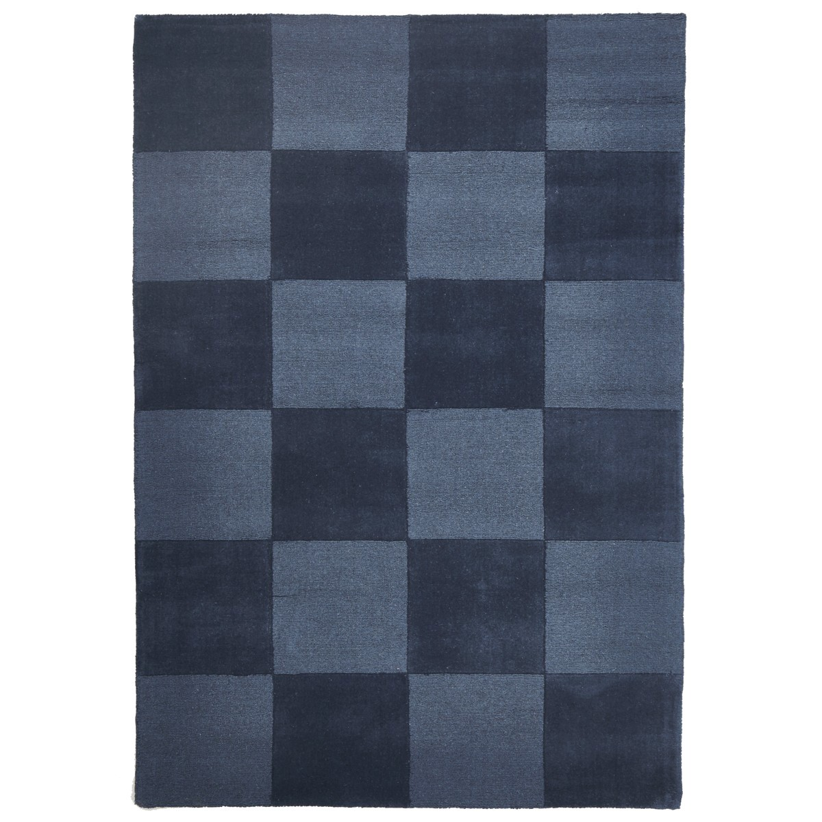 Evangeline Hand Loomed Modern Wool Rug, 165x115cm, Blue