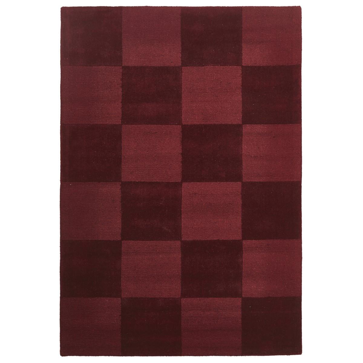 Evangeline Hand Loomed Modern Wool Rug, 165x115cm, Red
