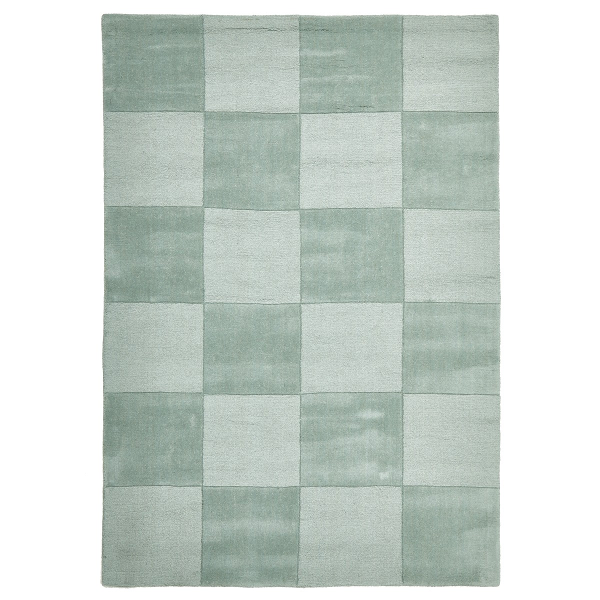 Evangeline Hand Loomed Modern Wool Rug, 165x115cm, Sage Green