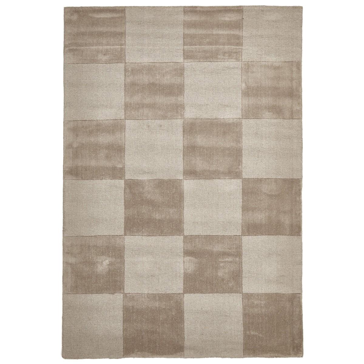 Evangeline Hand Loomed Modern Wool Rug, 165x115cm, Taupe