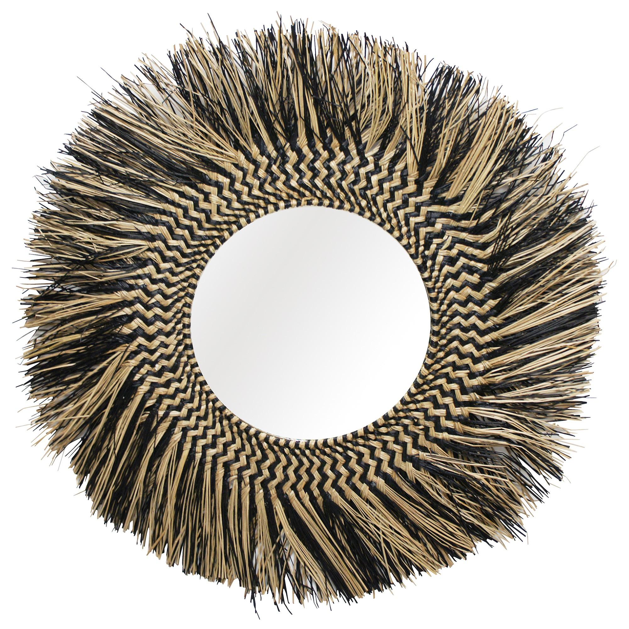 Dafril Pandanus Round Wall Mirror, 95cm