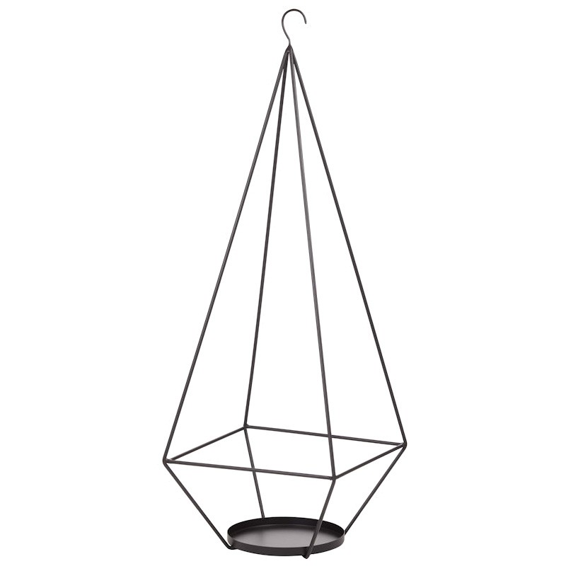 Higgs Metal Plant Hanger, Large, Black