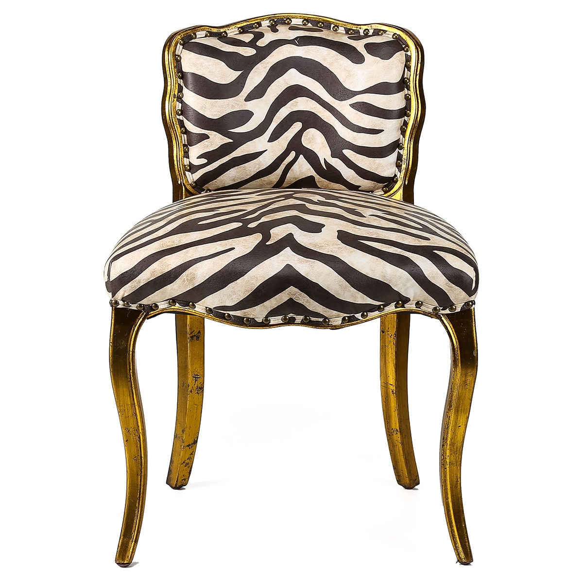 Celestine Zebra Fabric Upholstered Beech Timber Dining Chair