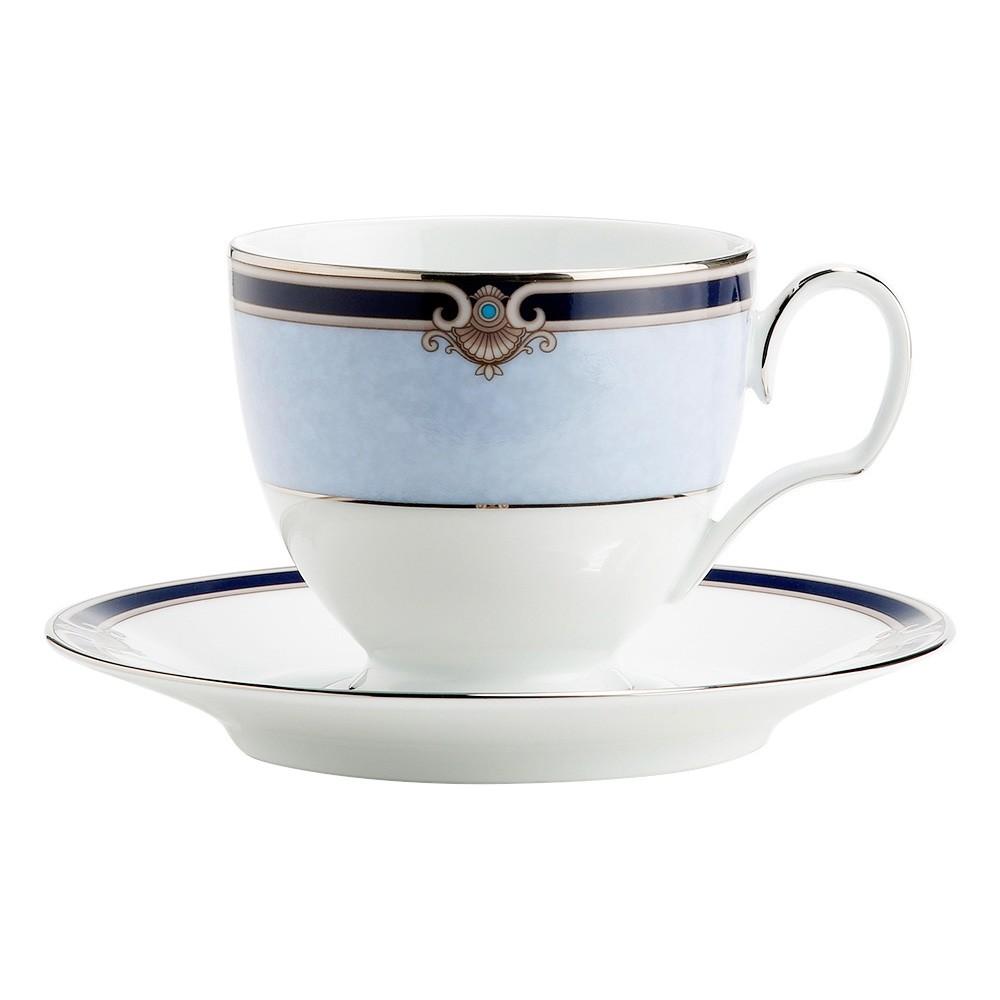 Noritake Springbrook Fine Porcelain Tea Cup & Saucer Set