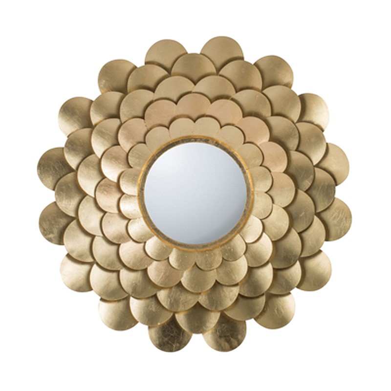 Scalloped Flower Irom Frame Wall Mirror, 80cm