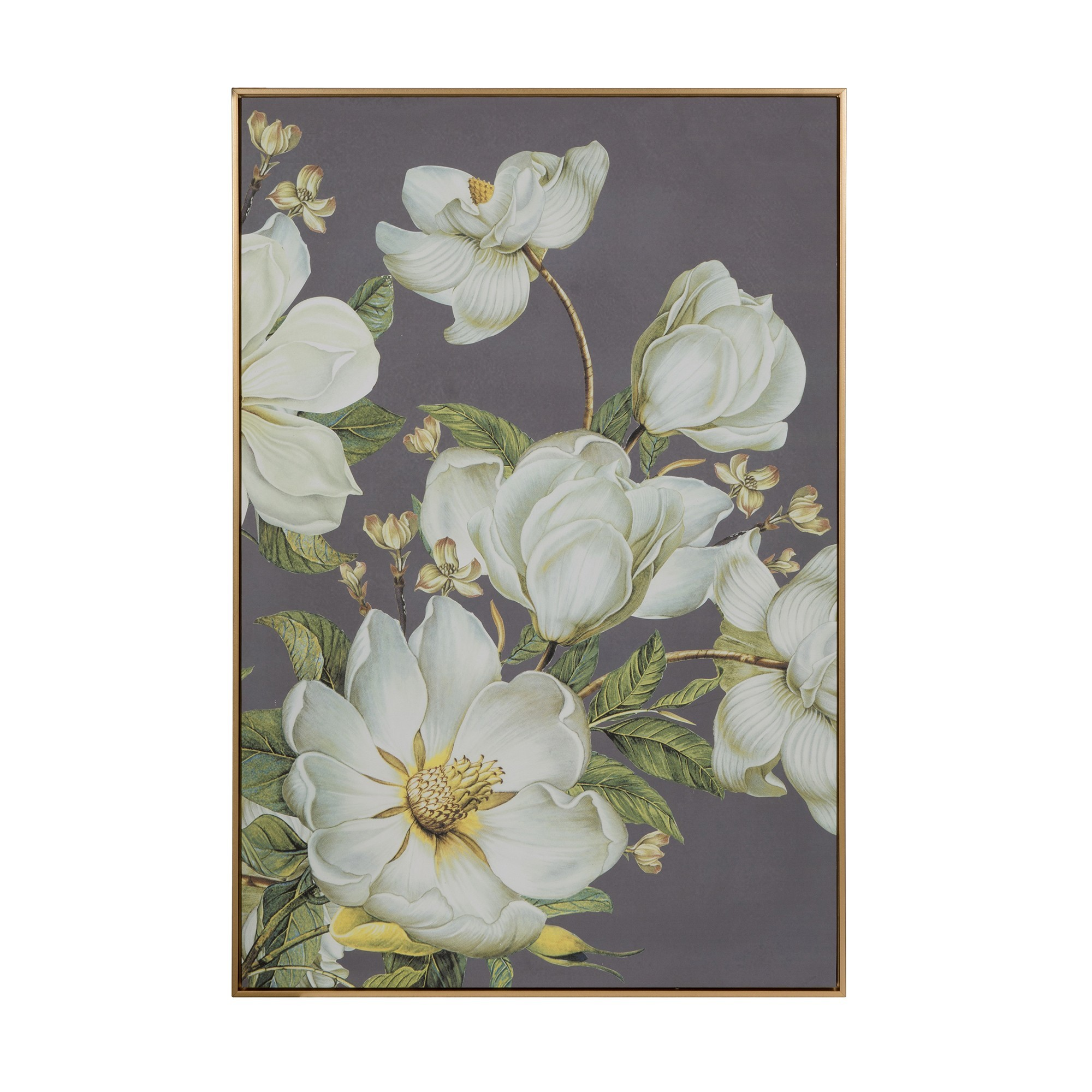 Blue Hue Magnolia Framed Wall Art, 120cm