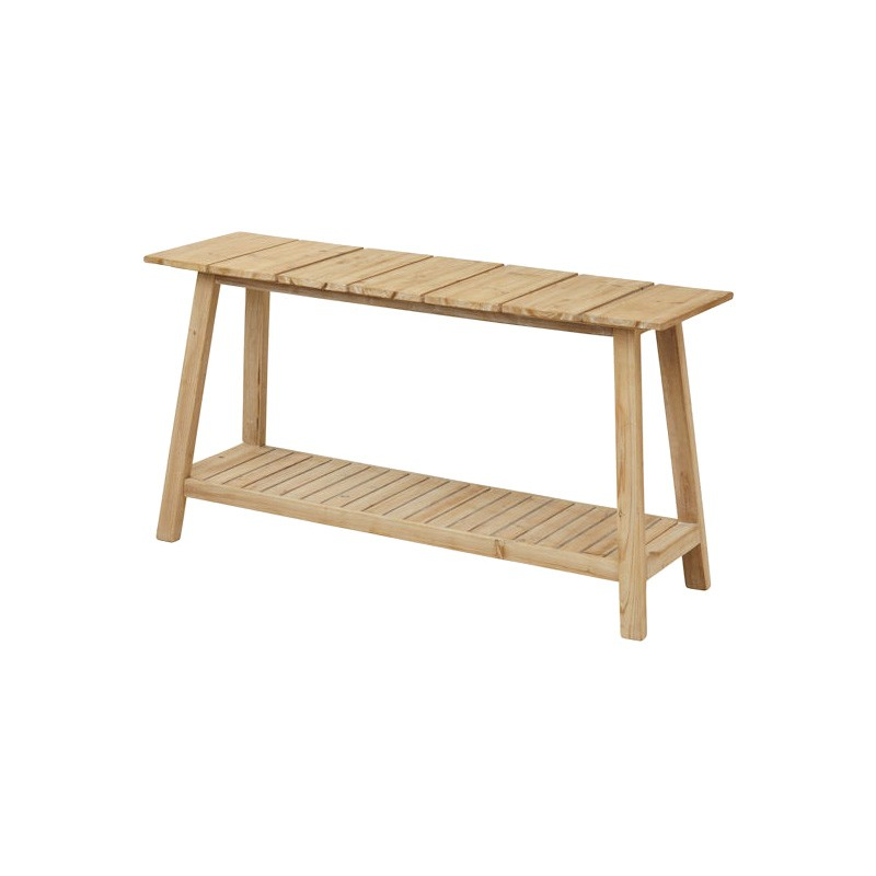 Brotchie Fir Timber Slat Console Table, 150cm