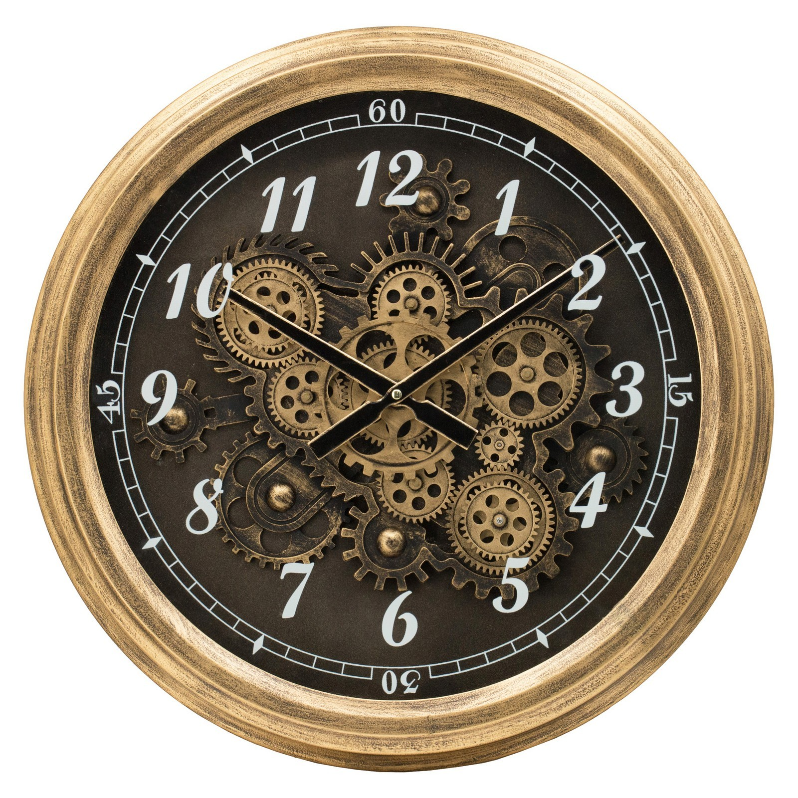 Mare Iron Frame Round Skeleton Wall Clock, 53cm
