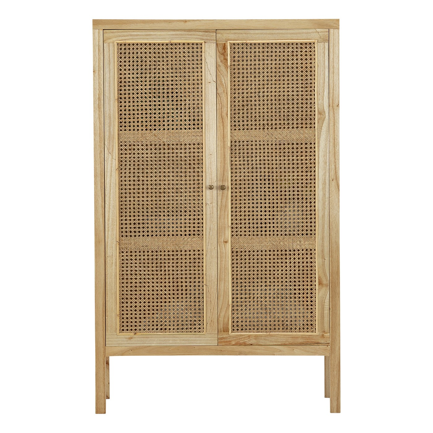 Atlanta Rattan & Mindi Wood 2 Door Cabinet, Natural