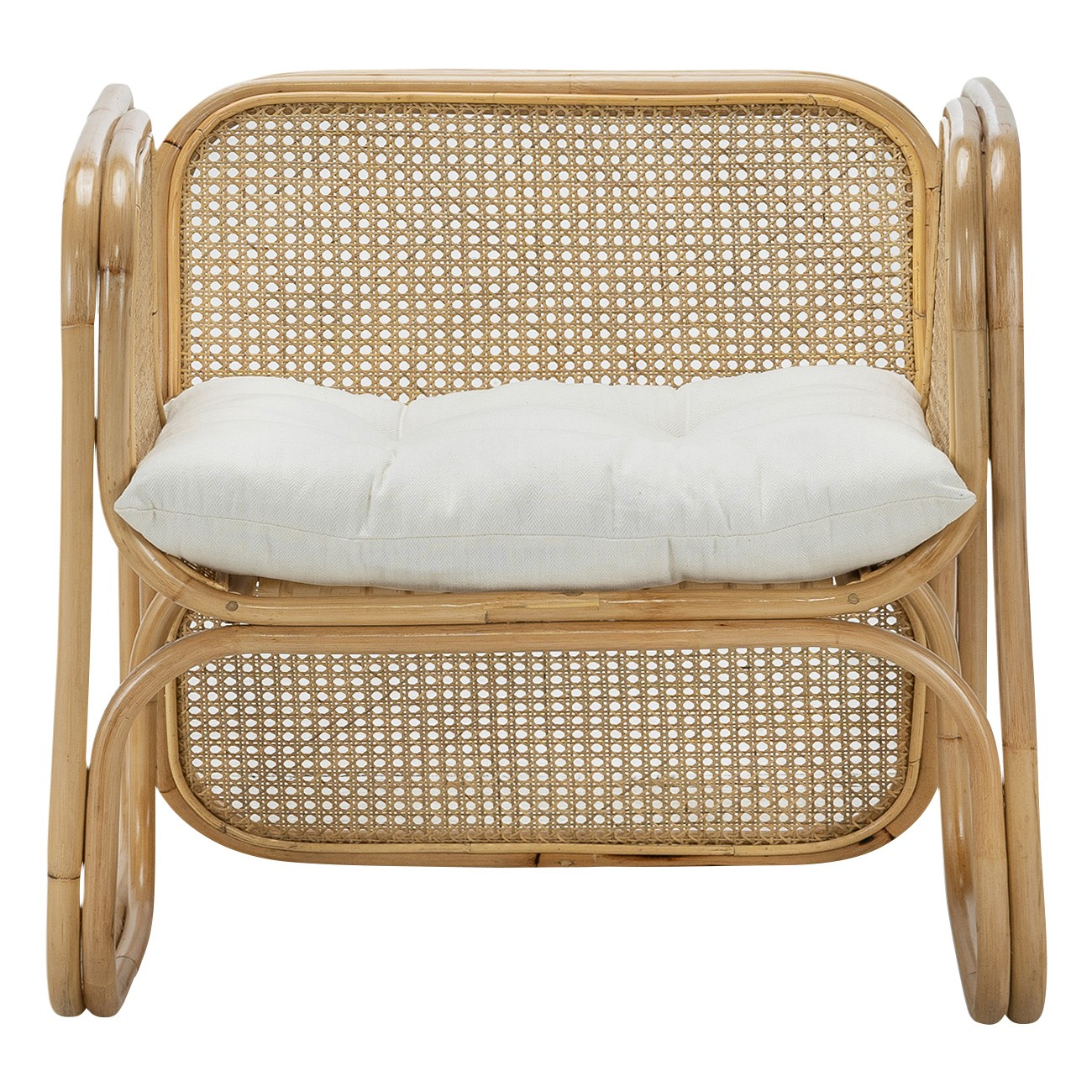 Lexie Rattan Lounge Armchair, Natural
