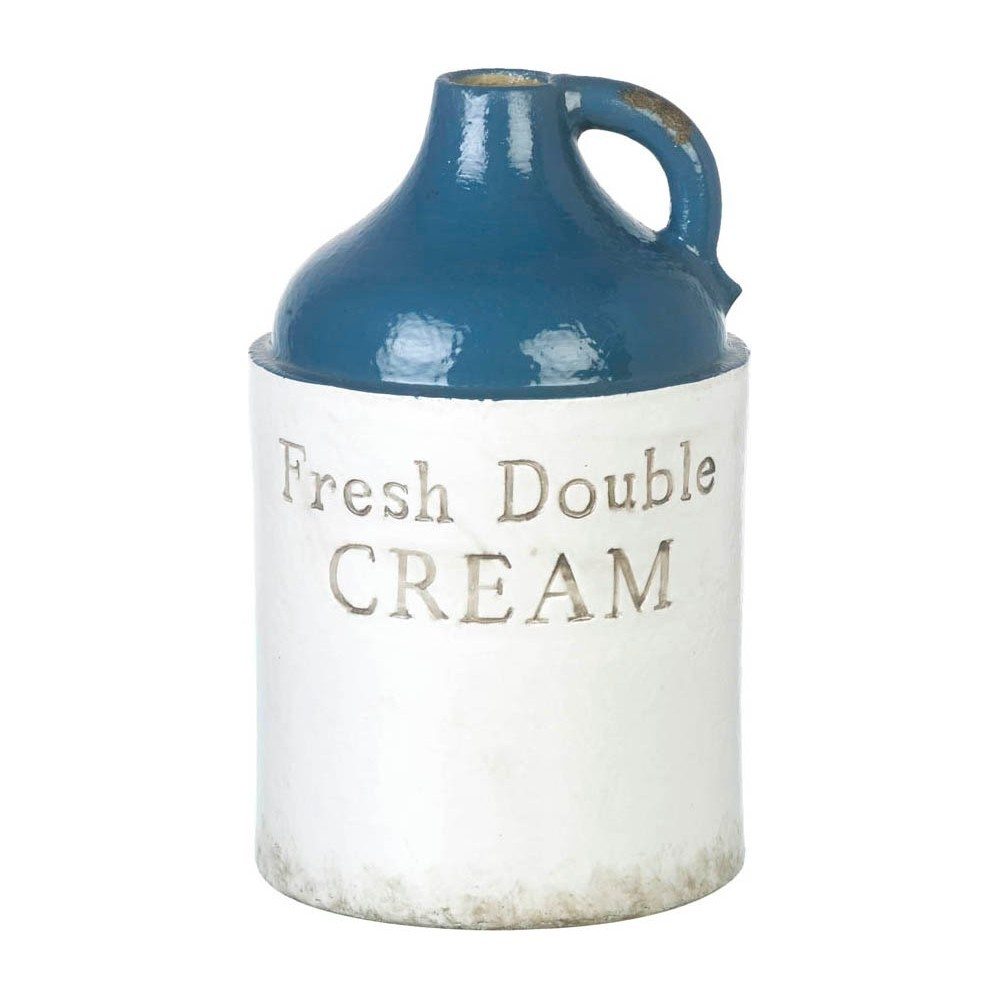 Fresh Double Cream Earthenware Vase