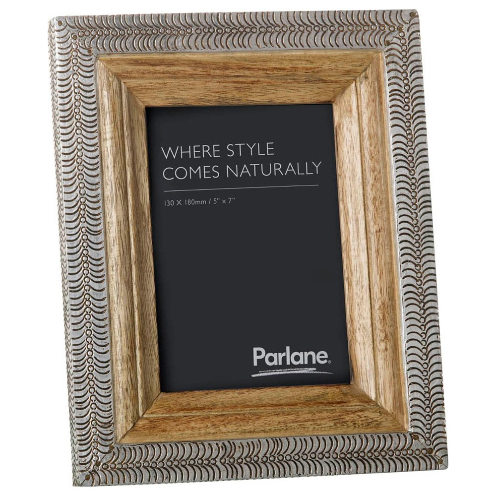 Muncie Mango Wood & Metal Photo Frame, 5x7