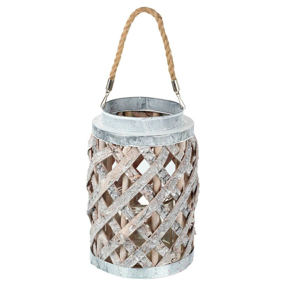 Zenith Handmade Willow & Metal Lantern, Small
