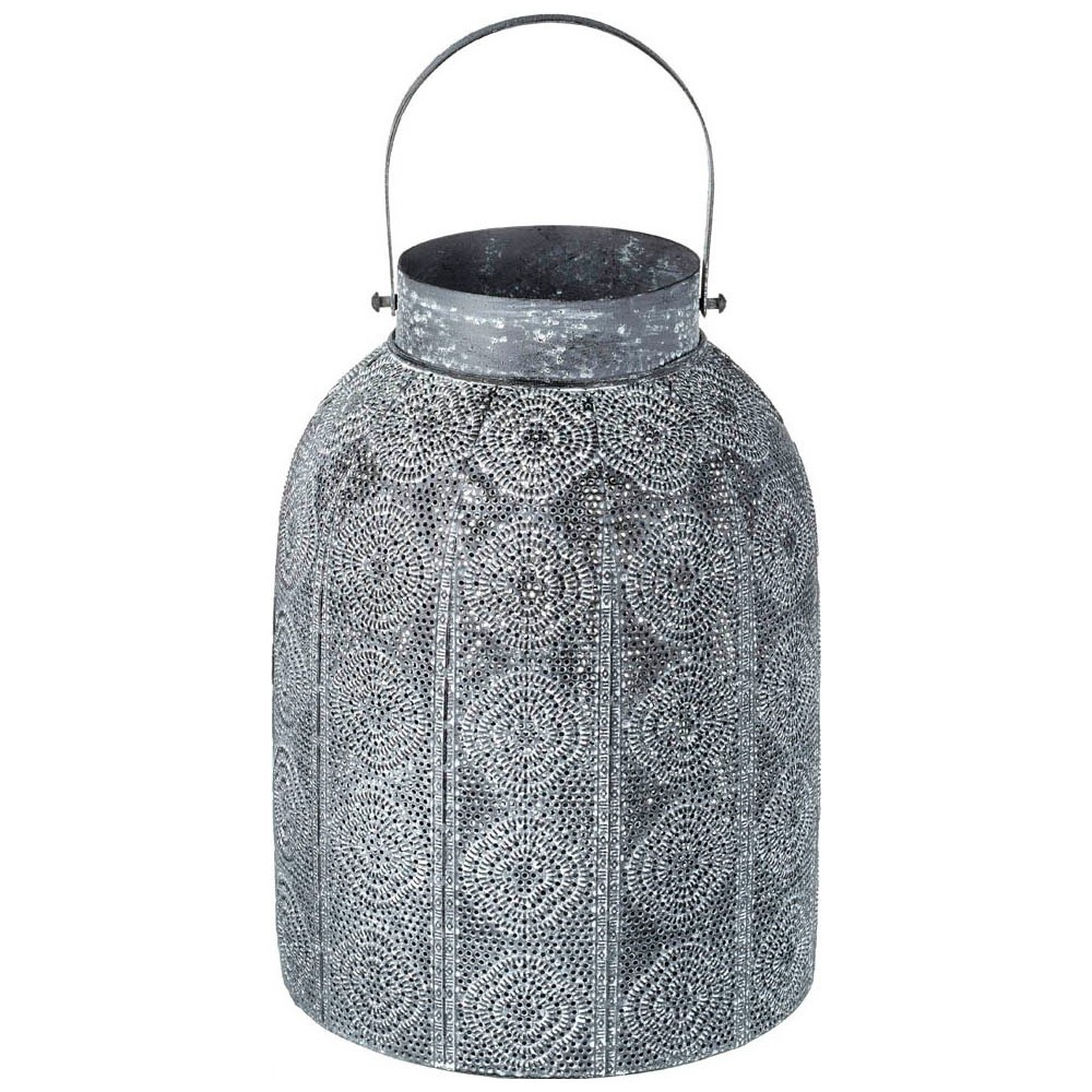 Federica Handcrafted Metal Lantern, Small