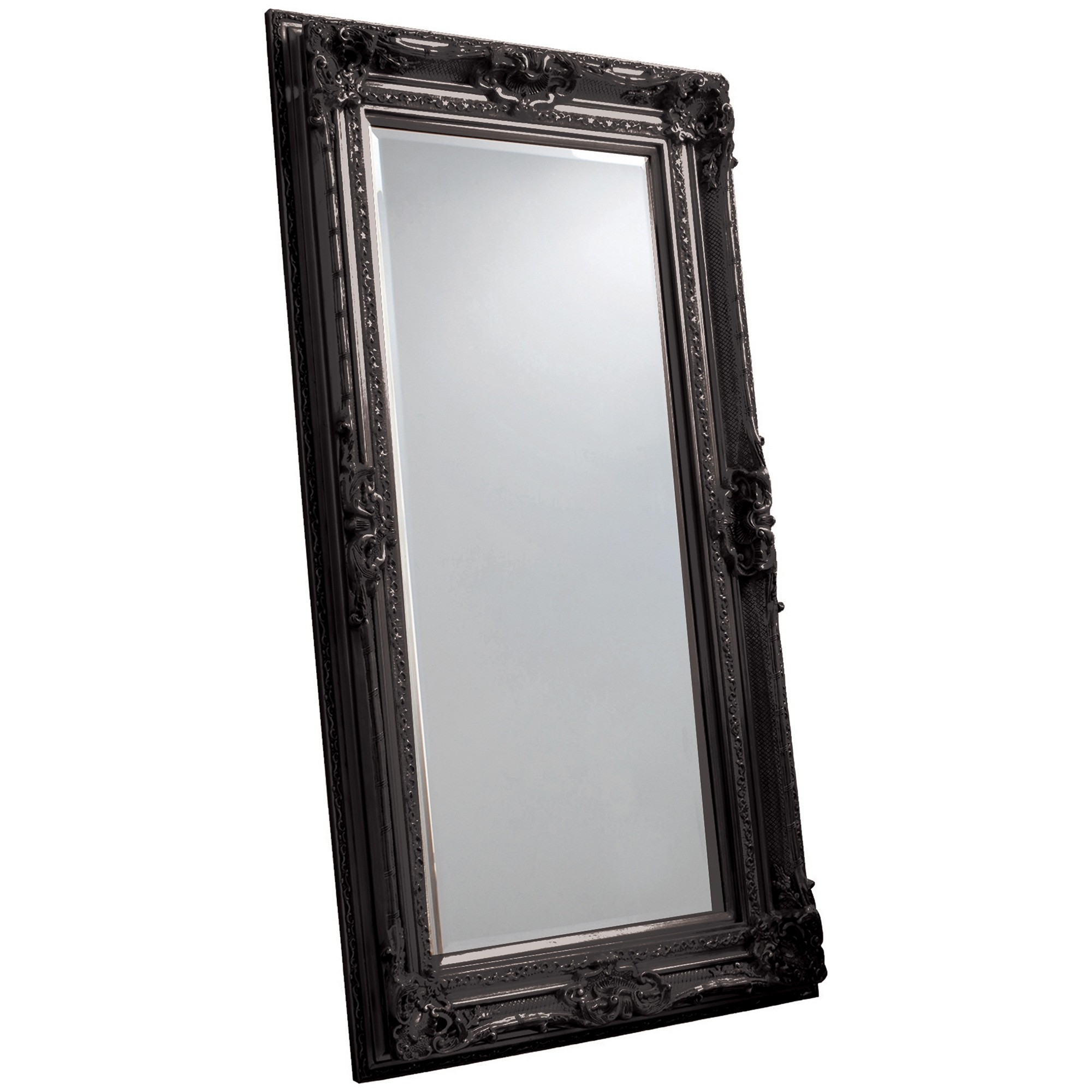 Violet Baroque Floor Mirror, 185cm, Black