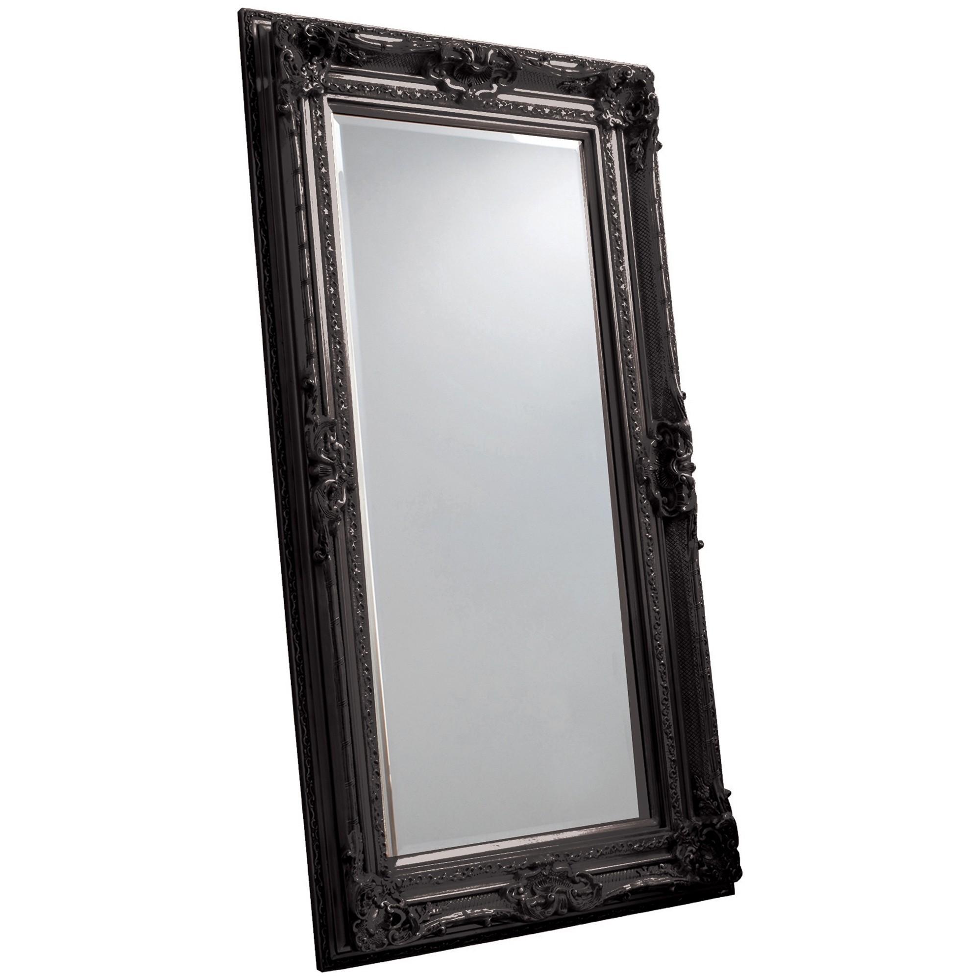 Violet Baroque Floor Mirror, 185cm, Black