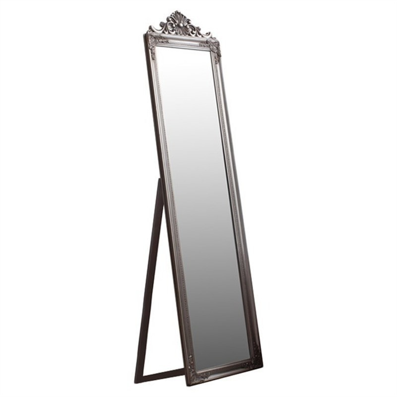 Lily Wooden Frame ChElenal Mirror, 179cm, Silver