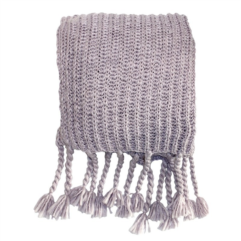 Salisbury Knitted Chunky Throw, Heather