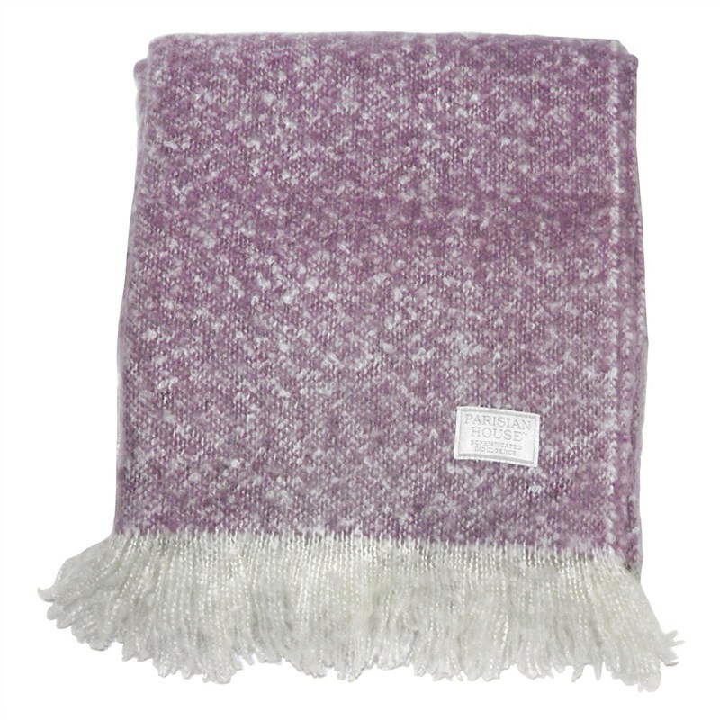 Cael Faux Mohair Throw, Heather