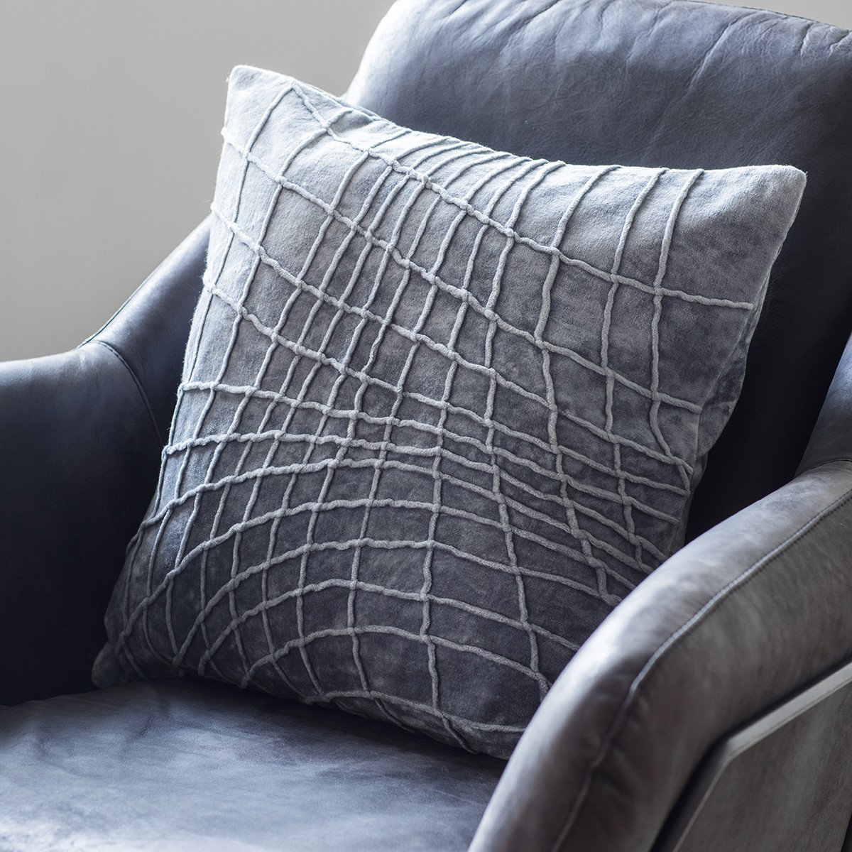 Jorvick Pintuck Velvet Scatter Cushion, Grey