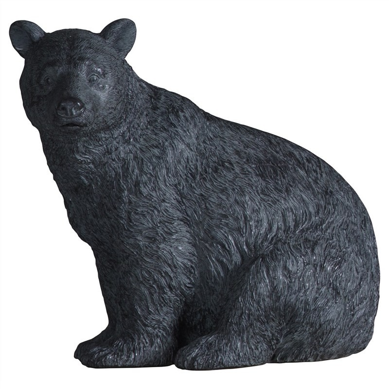 Olly Crouching Bear Resin Figurine