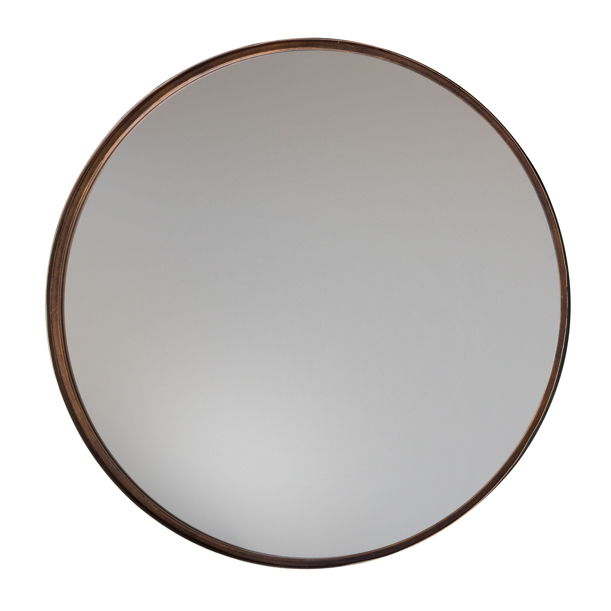 Metal Frame Round Wall Mirror, 61cm
