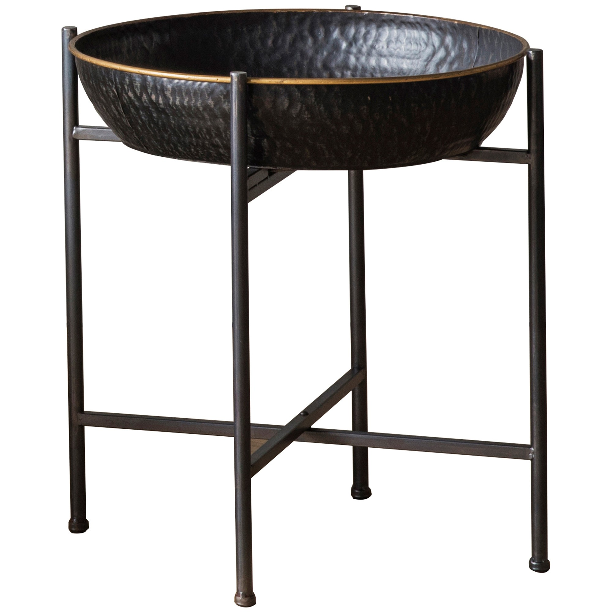 Wren Basin Top Metal Side Table