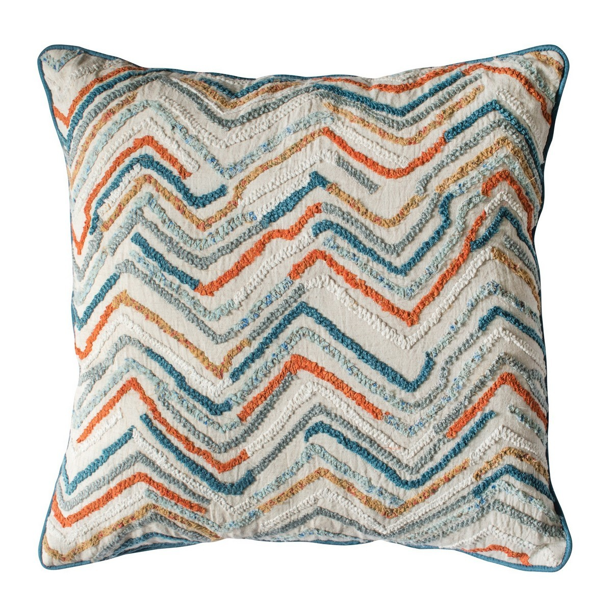 Theo Feather Filled Scatter Cushion, Teal / Orange