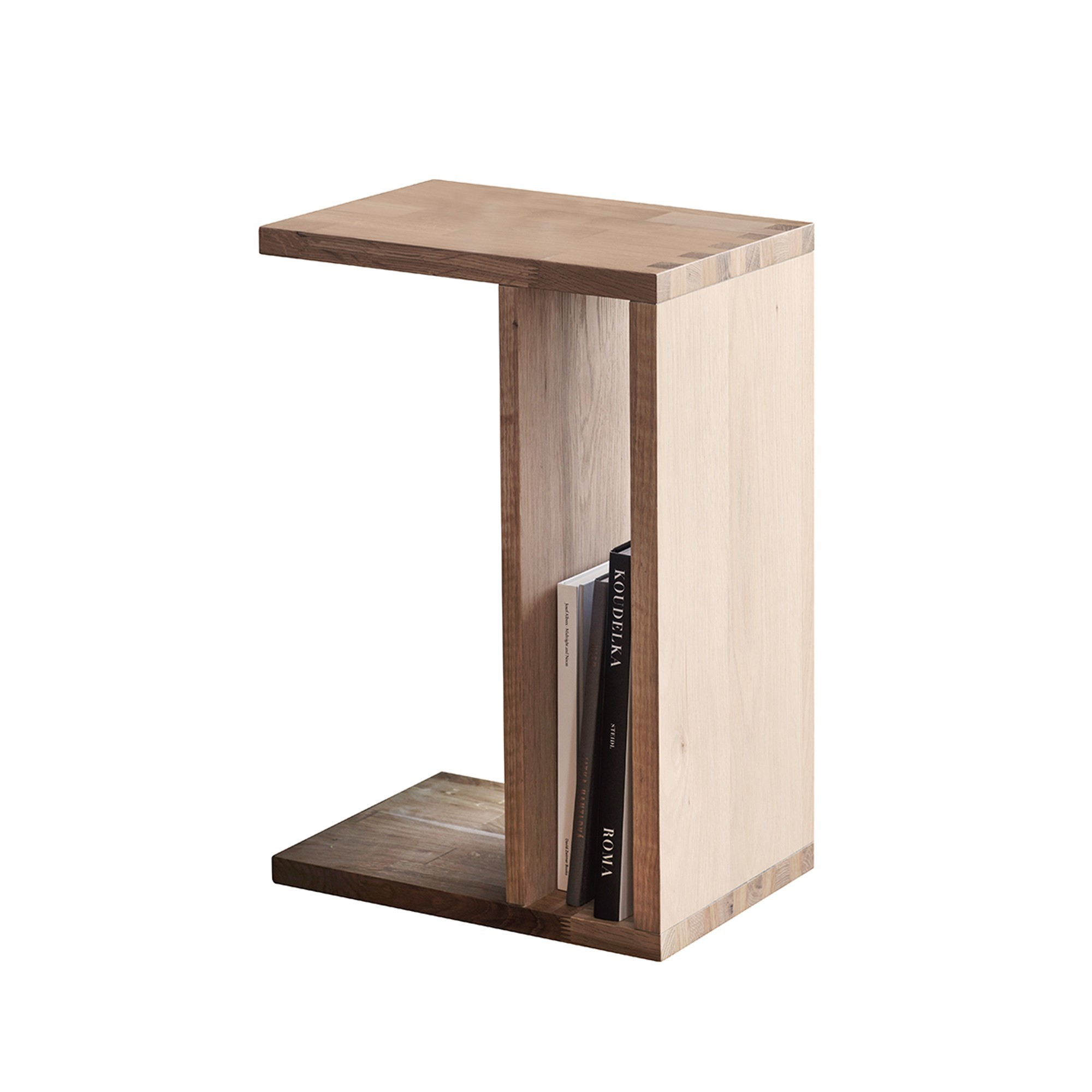 Kielder Oak Timber C-shape Side Table