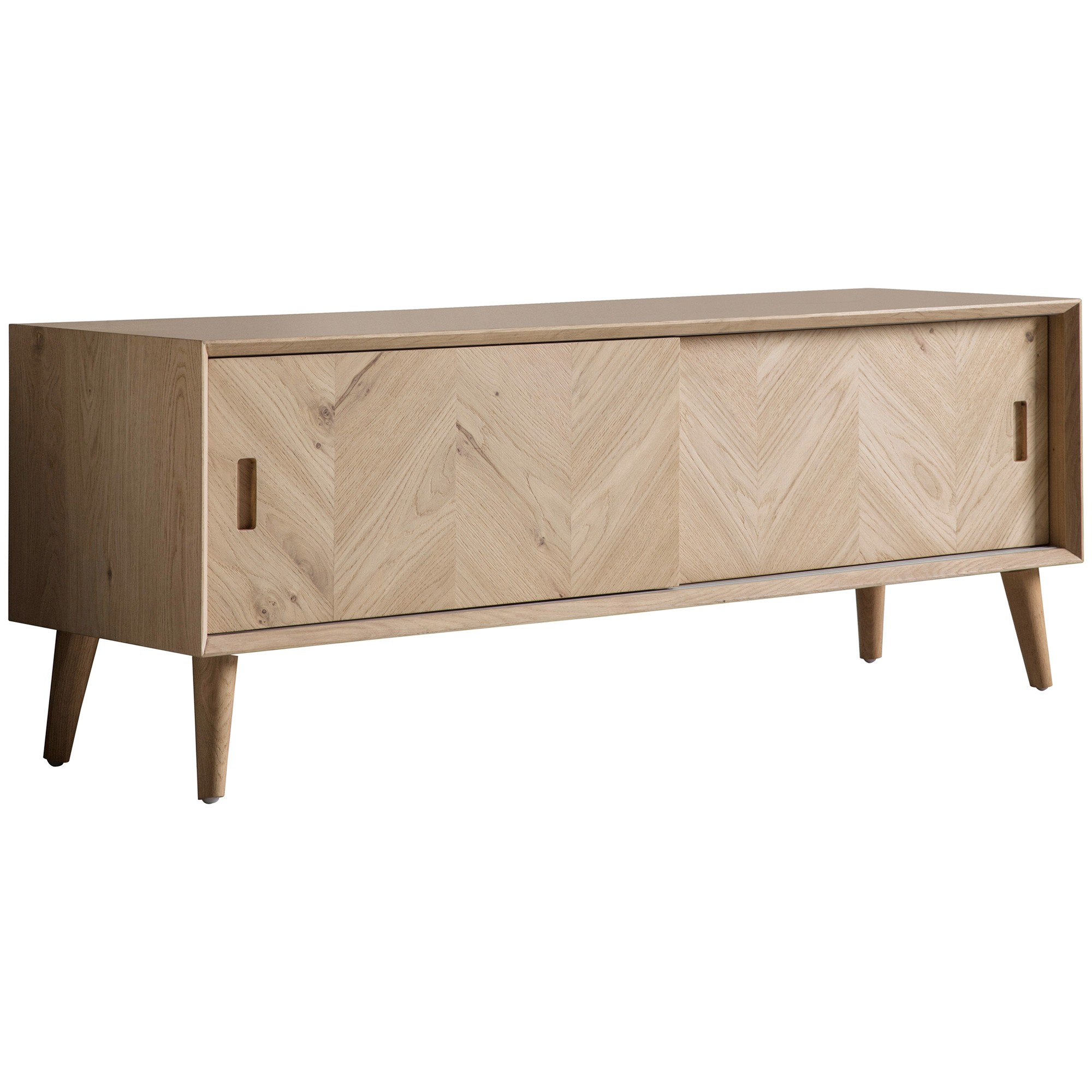 Maja Oak Timber Sliding Door TV Unit, 140cm