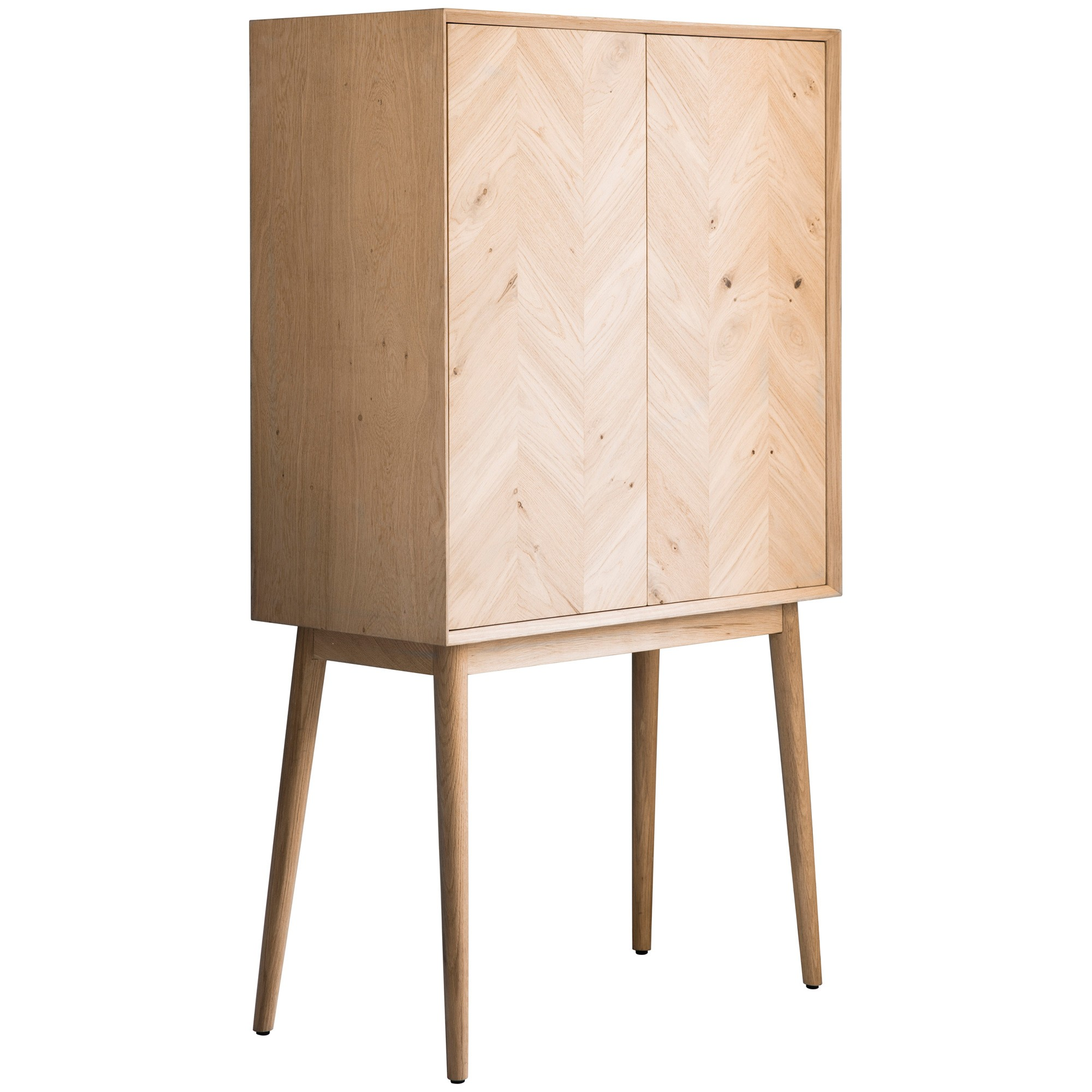 Maja Oak Timber 2 Door Cocktail Cabinet