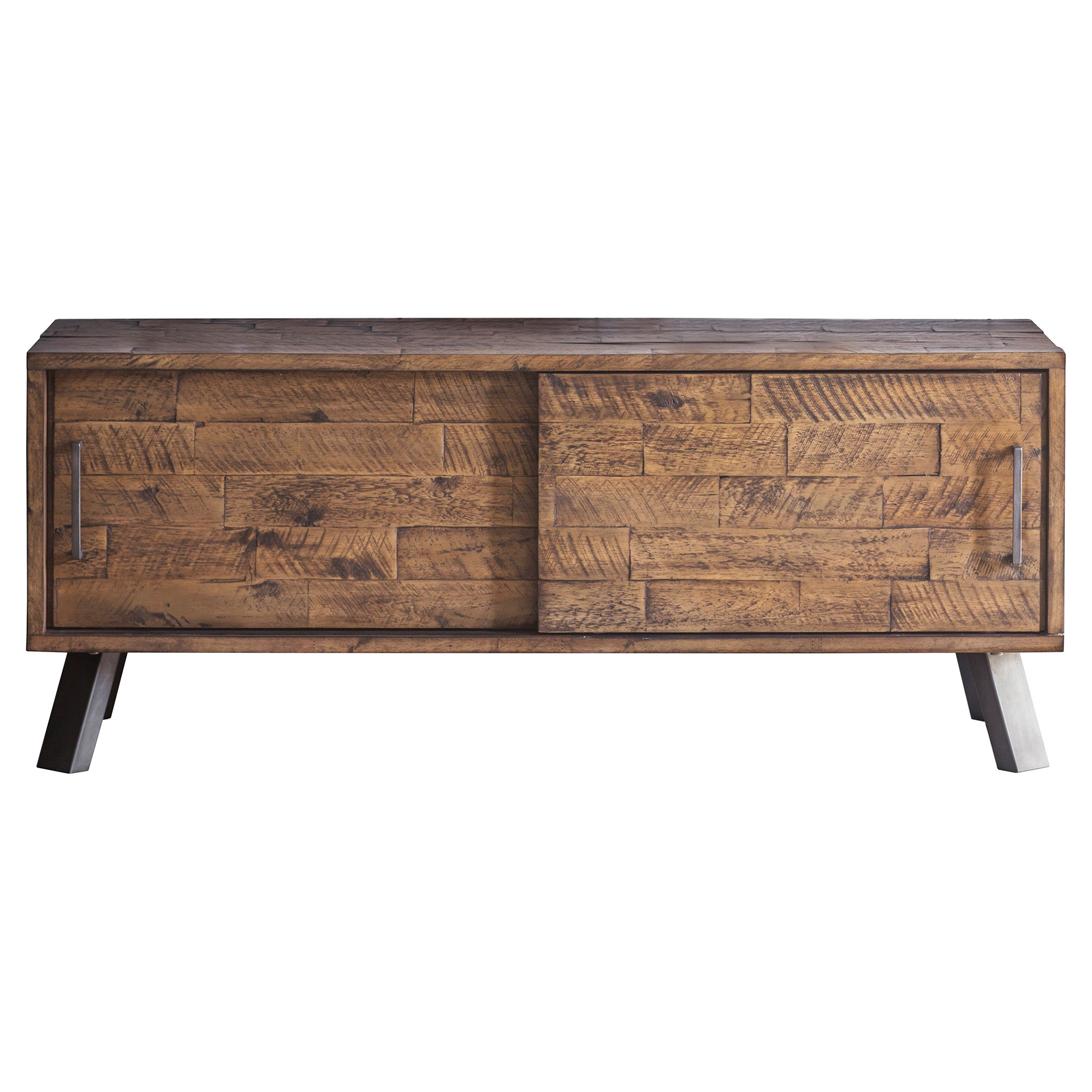 Connie Rustic Acacia Timber & Metal TV Unit, 120cm