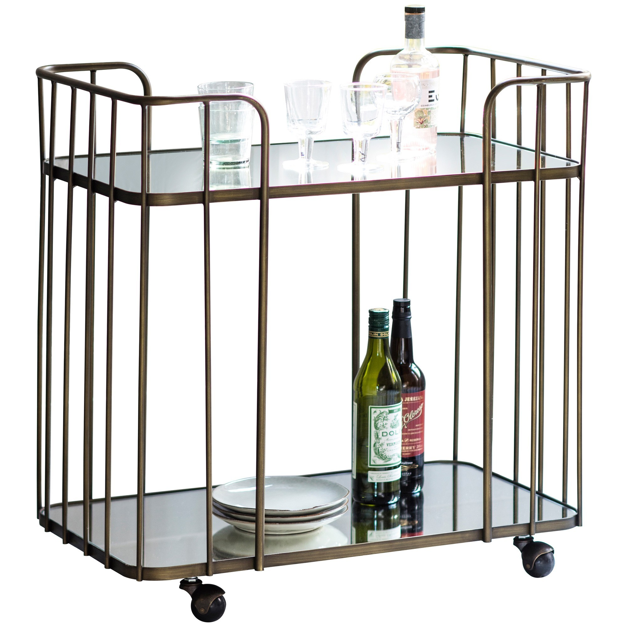 Vaughn Metal Drinks Trolley