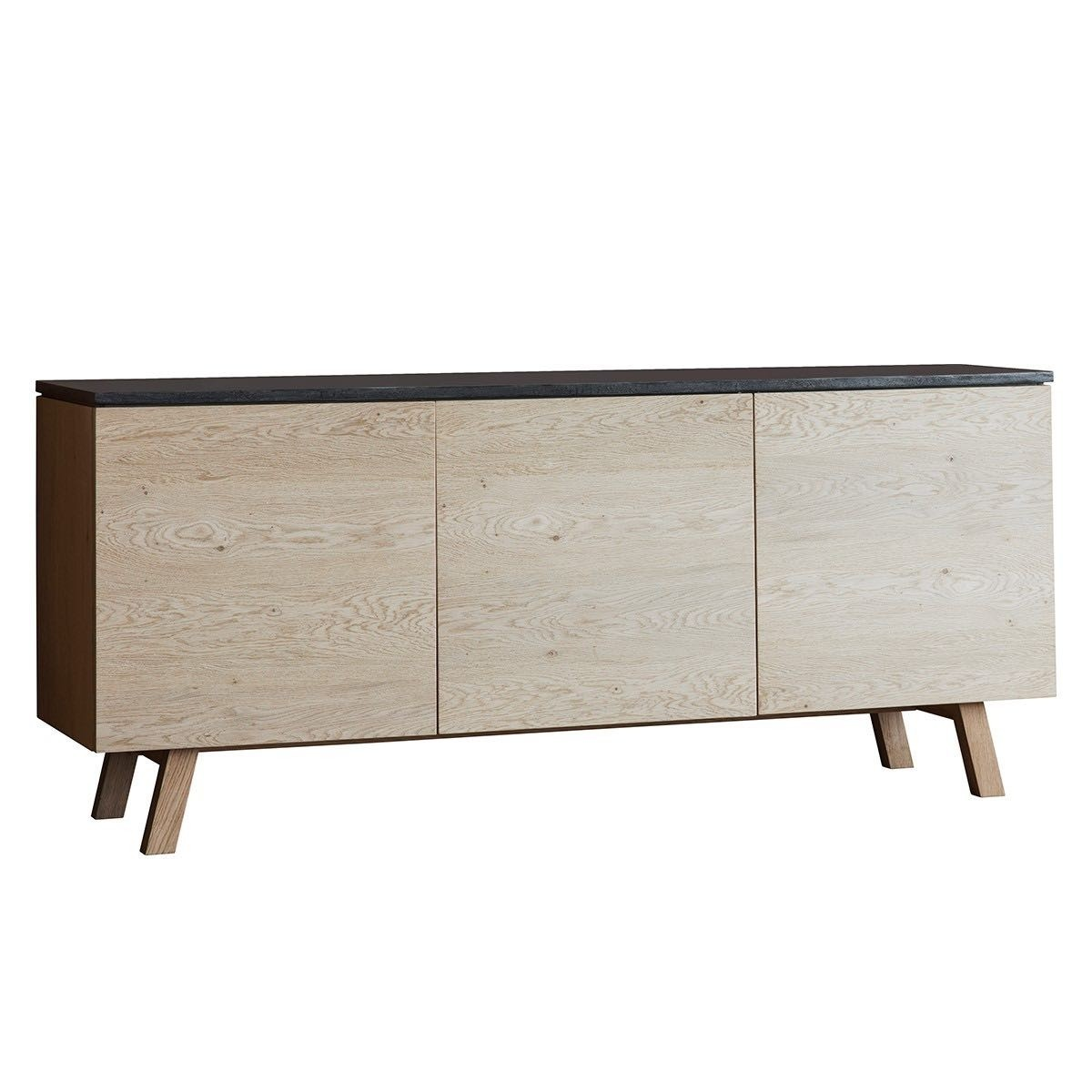 Brixton Resin & Oak Timber 3 Door Sideboard, 160cm